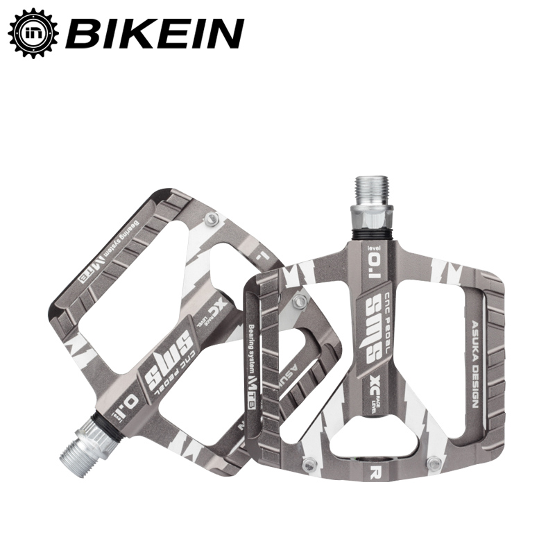 BIKEIN Cycling Ultralight Mountain Bicycle MTB Pedals BMX DU+ 1 Bearing Aluminum Platform 9/16 Inch Flat Pedals Bike AccessoriesBIKEIN Cycling Ultralight Mountain Bicycle MTB Pedals BMX DU+ 1 Bearing Aluminum Platform 9/16 Inch Flat Pedals Bike Accessories