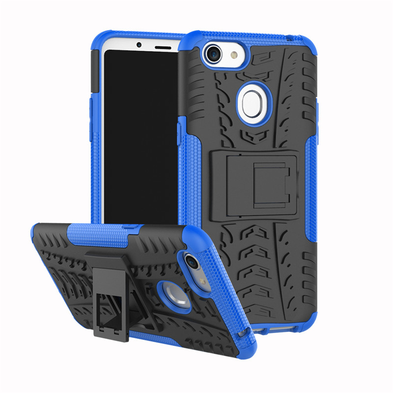 For OPPO F5 case Heavy Duty Hybrid TPU Armor Silicone Rubber Back Cover With Stand For OPPO R9S Plus Hard PC Coque Fundas