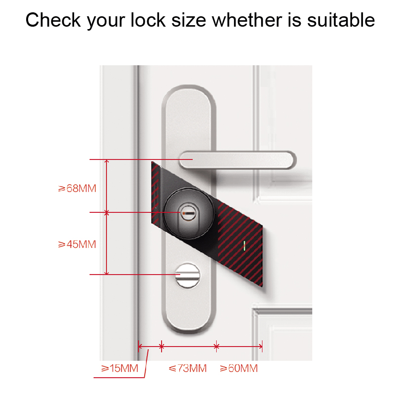 Image 3 - 2018 New Sherlock S2 Electronic Intelligent Door Lock Smart Lock IOS/Android APP Control Home Keyless Lock-in Electric Lock from Security & Protection