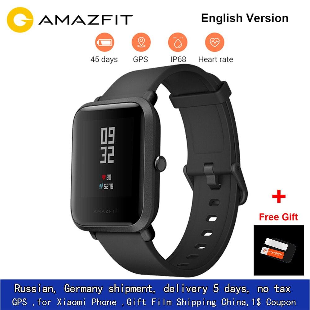 UE Stock Xiao mi Hua mi Amazfit Bip PEU RYTHME Lite Jeunes Verison Montre Smart Watch mi Fit IP68 Étanche Glonass + GPS Anglais Version