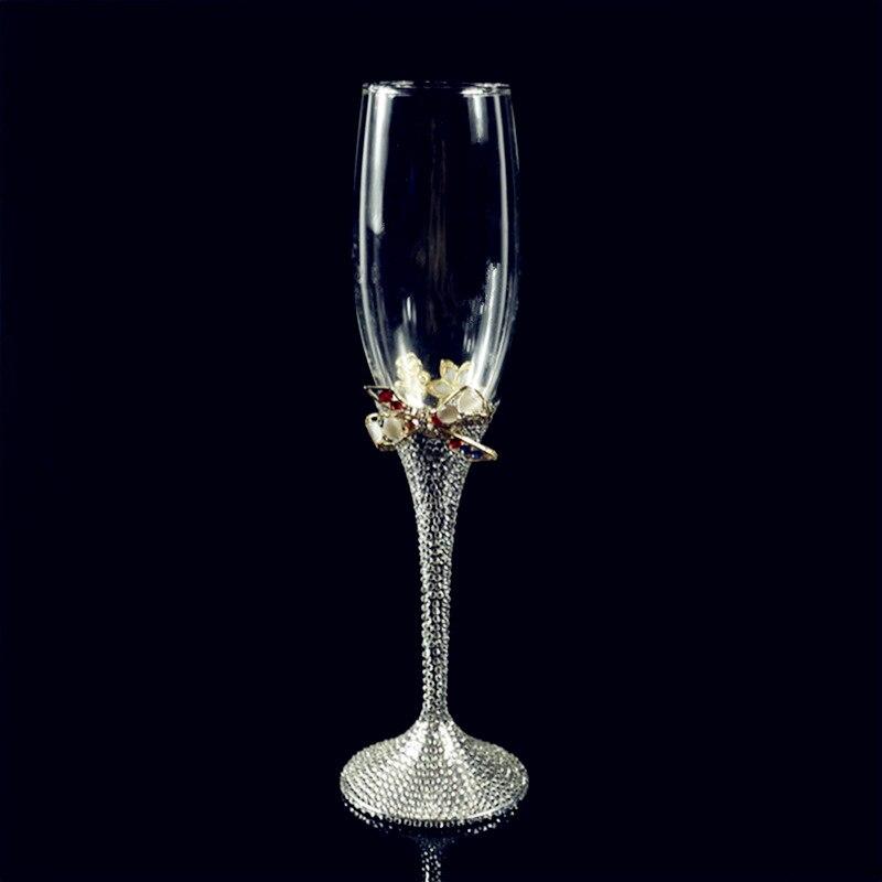 Foret à eau de haute qualité, embellissement, coupe à Champagne, noeud papillon, verre résistant à la chaleur, coupe et gobelet coloré.
