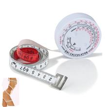 BMI masy ciała wskaźnik chowany taśmy 150 cm pomiaru kalkulator diety utrata masy ciała masy ciała Taśma miernicza BMI kalkulator tanie tanio SKBMI-60 ETOPOO Maszyny do obróbki drewna as the goods 0-1500mm ABS plastic +PVC