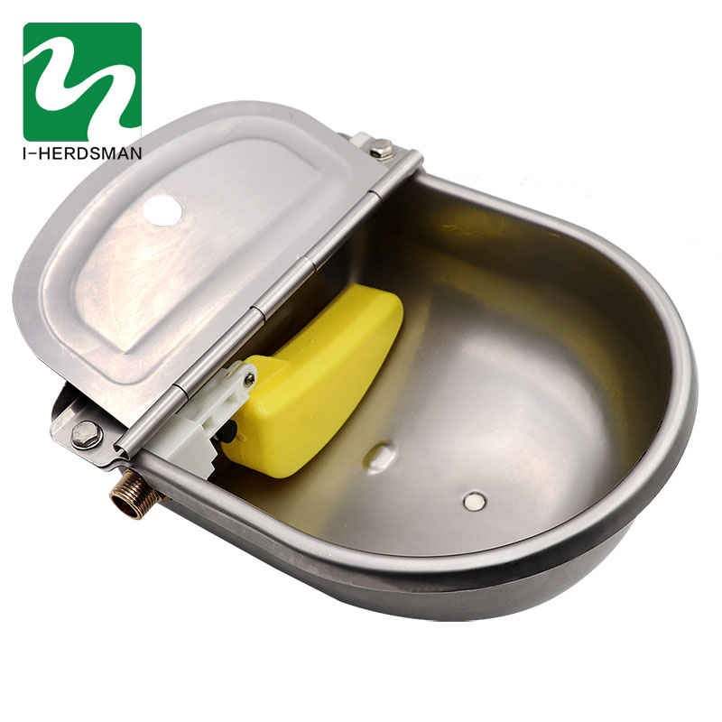 1 Pc Livestock Cattle Horse Drinker Bowl Stainless Steel Cow Automatic Waterer Outlet Float Bowl For