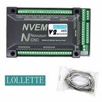 2018 NVUM NVEM CNC Controller 3 4 5 6 Axis MACH3 Ethernet Interface Board Card 200KHz