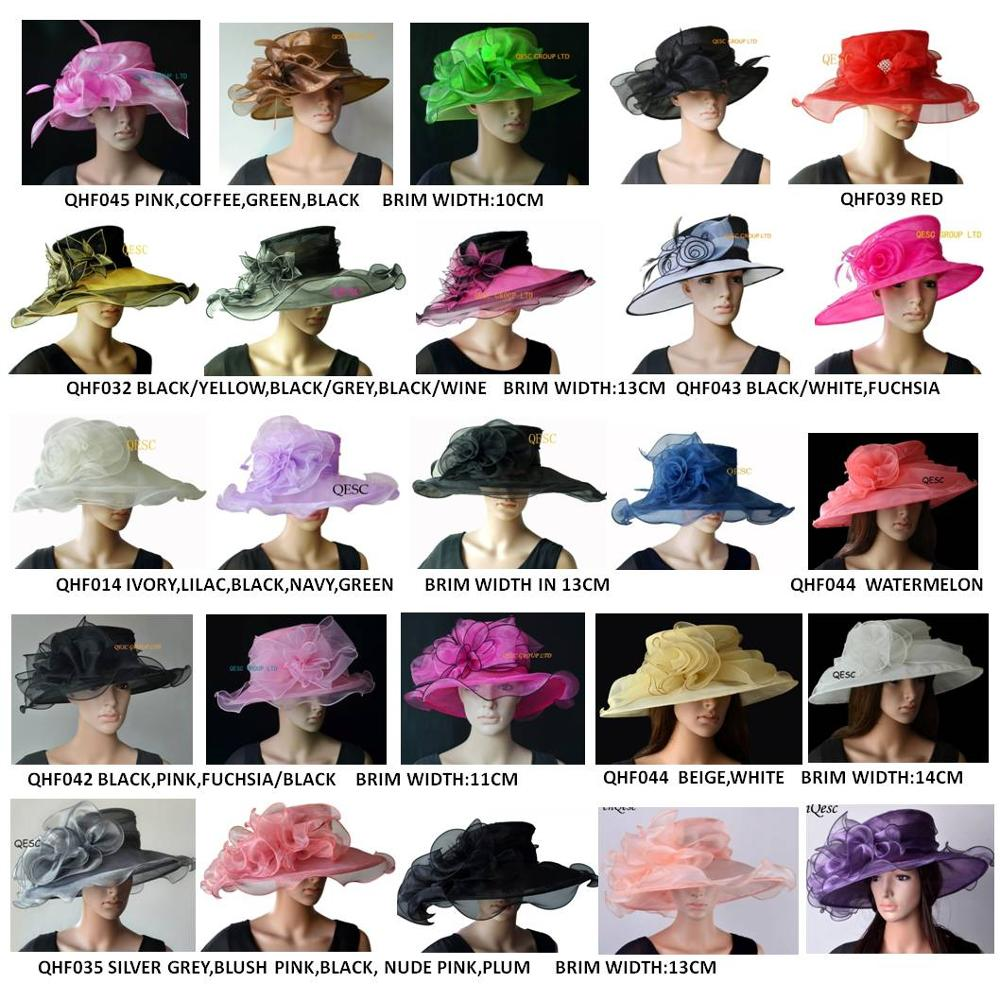 Wholesale Wide brim bridal wwedding women s hat dress Organza Hats Church sinamay fascinator for derby