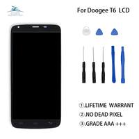 For Doogee T6 LCD Display+Touch Screen Digitizer Original Qualirty Phone parts For Doogee T6 Display Screen LCD