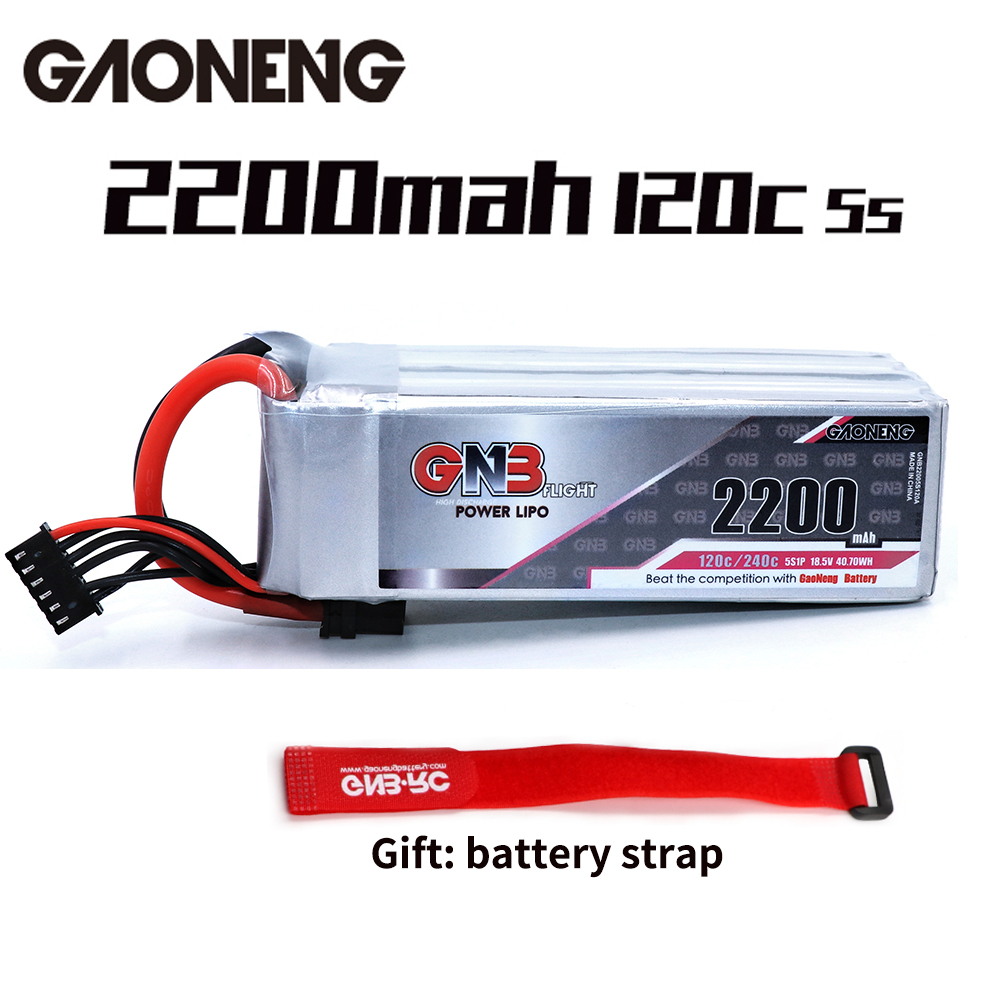 Gaoneng GNB 2200mAh 5S1P 18 5V 120C 240C Lipo Battery With XT60 Plug Battery Strp FPV