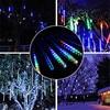 2 Set 50CM 30CM 10 Tubes Meteor Shower LED Christmas Lights For Wedding Party Xmas Tree