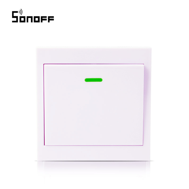 Wireless Remote control RF433Mhz Transmitter 86 Wall Panel With Sticky Smart Home Work with Sonoff RF Series Products