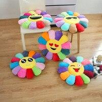 Moda Home Decor Kreatywny 3d Kwiat Emotikon Smiley Emotikon Poduszka Poduszki Kanapy Poduszki Poduszka Siedziska Krzesła Pad słonecznika 52 cm