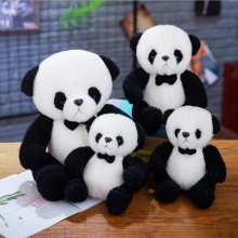 цена на Cute Aentleman Panda Doll Soft Plush Toys Stuffed Animal Panda Plush Doll Pillow Children Girls Birthday Gift Toy