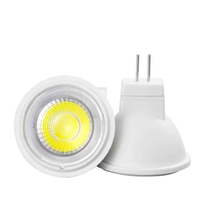 MR11 COB LED Spotlight 7W AC/DC 12V 30 Degree Lamp Lampada Cold/Nature/Warm White LED Bulb Energy Saving For Home Lighting