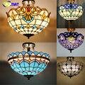 Arte Criativa Vitral Tiffany Lâmpada Do Teto Luzes de Suspensão Flor Barroco Projeto Da Cozinha do Restaurante Do Hotel Luzes