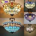 Tiffany Ceiling Lamp Creative Art Stained Glass Suspension Lights Flower Baroque Restaurant Kitchen Hotel Project Lights