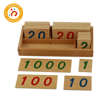 Montessori Material Large Wooden Number Cards With Box Learning Math Children Toy