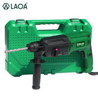 LAOA 800W Triple purpose 24mm power Electric Impact Drill Rotary Hammers pick for drilling and chiseling