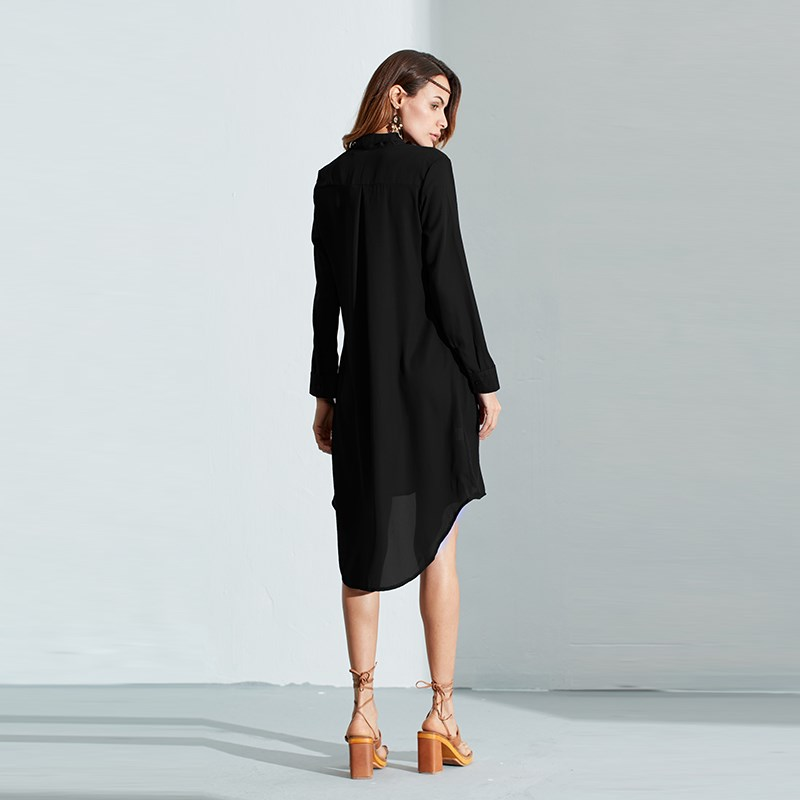 HTB18bTSPVXXXXaBXVXXq6xXFXXXy - Women Shirt Vestido Bow Long Sleeve Casual Amsymetircal Chiffon
