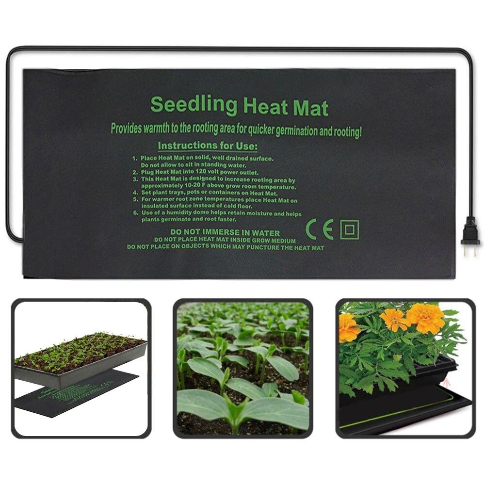 Нагревательный коврик для растений 24*52 см 52*52 см 121*52 см электрическое одеяло для рассады с цветком водонепроницаемый теплый прочный гидропо...