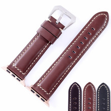 Genuine leather watch bracelet accessories for apple watch strap 38mm black apple watch band 42mm iwatch watchbands цена и фото
