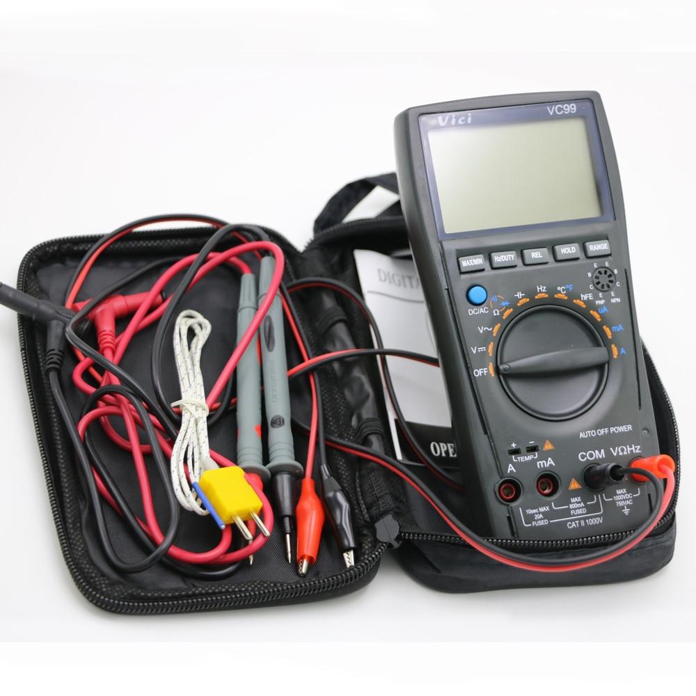 Vici VC99 Auto Range 3 6/7 digitális multiméter 20A ampermérő - Mérőműszerek - Fénykép 2