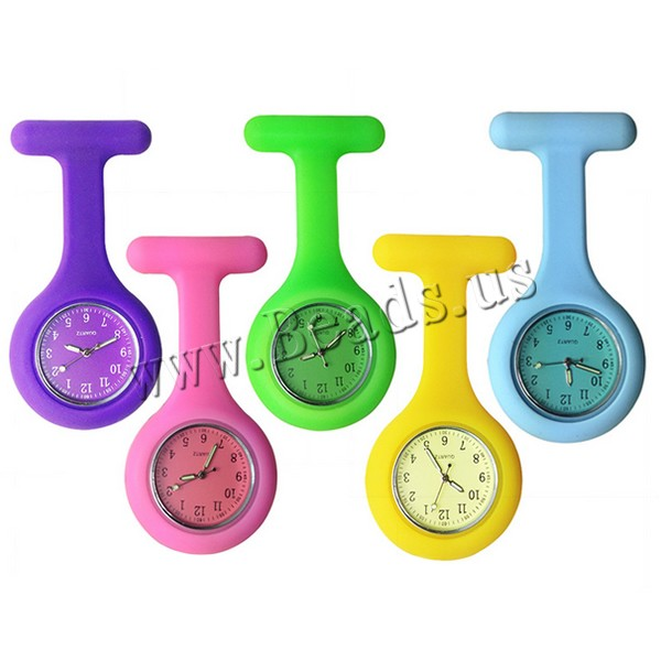 Wholesale 2019 High Quality Brand New Nurse Watches Silicone Pocket Fob Brooch Nurses Watch Tunic Batteries Medical Quartz Watch