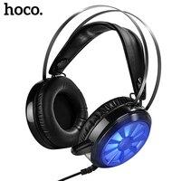 Orijinal HOCO Büyük Kulaklık W7 Profesyonel Oyun Kulaklık Mikrofon ile Bilgisayar Smartphone Dizüstü Oyun için Ekipmanları 3D Ses