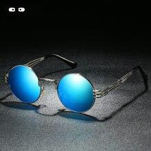 8125d2e38 Umanco Steampunk Rodada Do Vintage Óculos Polarizados Óculos de Sol Dos  Homens Das Mulheres Moda Retro Metal Óculos de Sol 2018 .