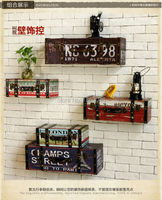 Home Decor Wall sticker wall decoration creative BOX Wall Decor for retro bar cafe Metope adornment wall act For Bar Coffe Shop