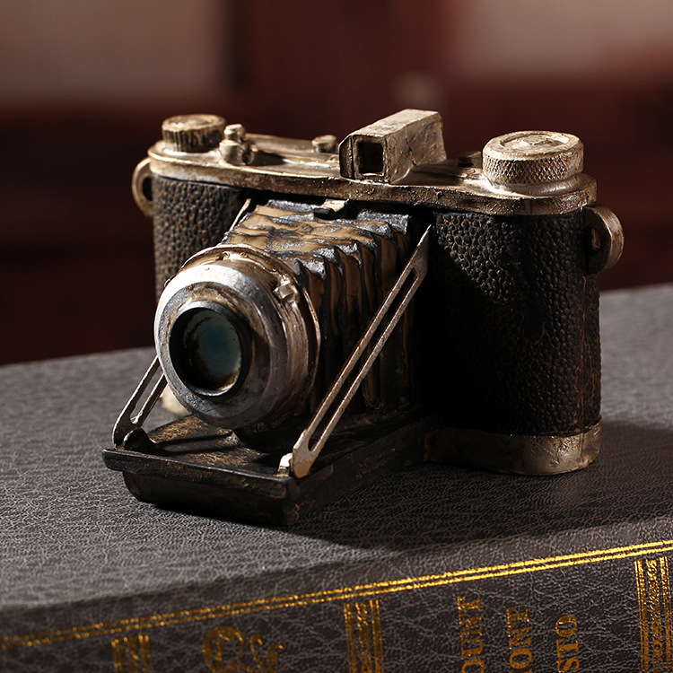 ZAKKA groceries home decoration crafts old process camera miniaturas de bonecos Resin Garden home decoration accessories