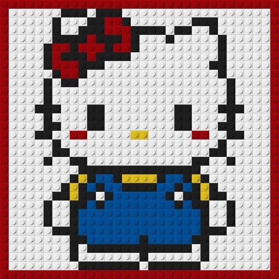 1463 3232 Plaque Pixel Art Mosaïque Peinture Ensemble Bricolage Dessin Animé Chiffres Petit Chien Mignon Chat Portrait Blocs De Construction Jouet