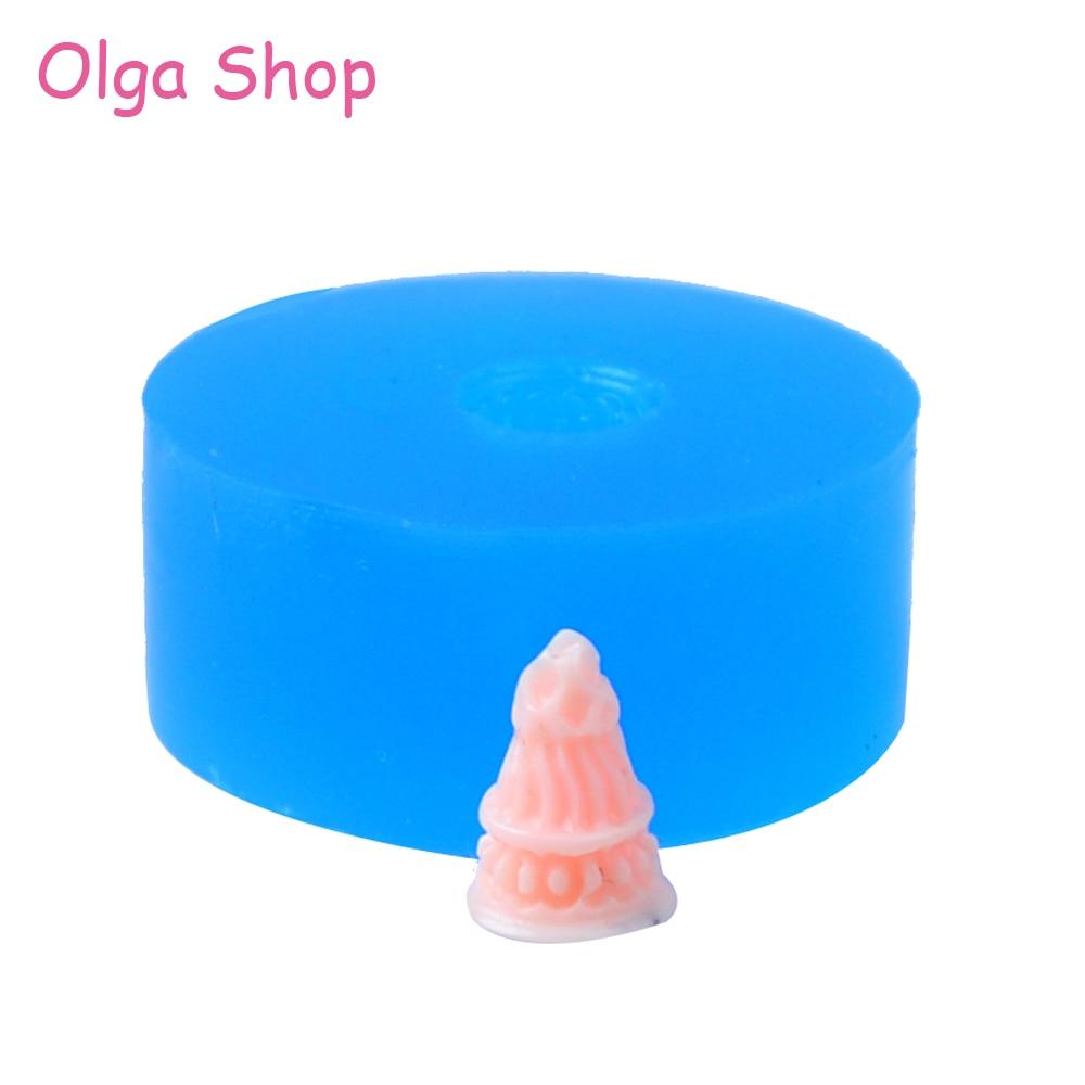 XYL222 8.9mm Ice Cream Cone Silicone Push Mold Miniature