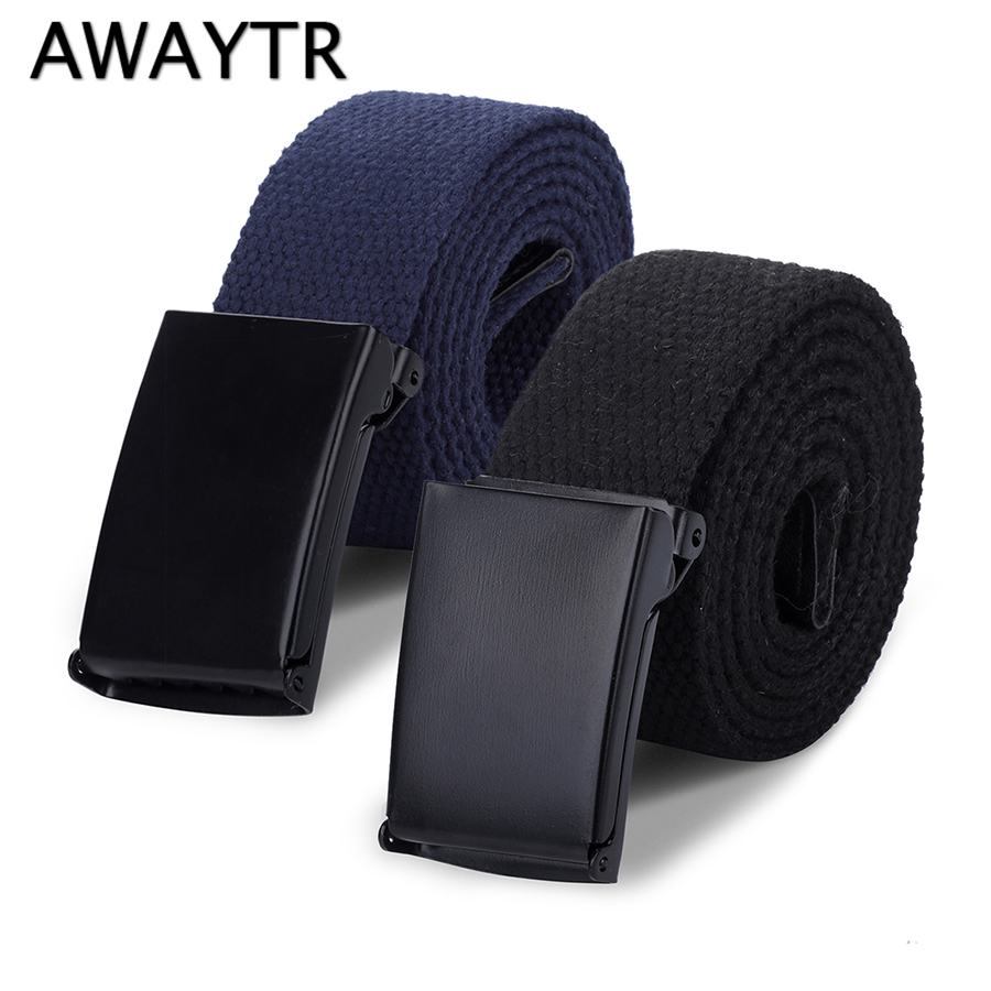 AWAYTR Nylon   Belt   Outdoor Military Web   Belt   Men Women Tactical Webbing   Belt   for Kids 4 Sizes Flip Top Buckle   Belt   For Adults Kid
