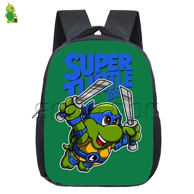 Age Mutant Ninja Turtles Kindergarten Backpack Super Turtle Leo Raph Children School Bags Cartoon Toddler