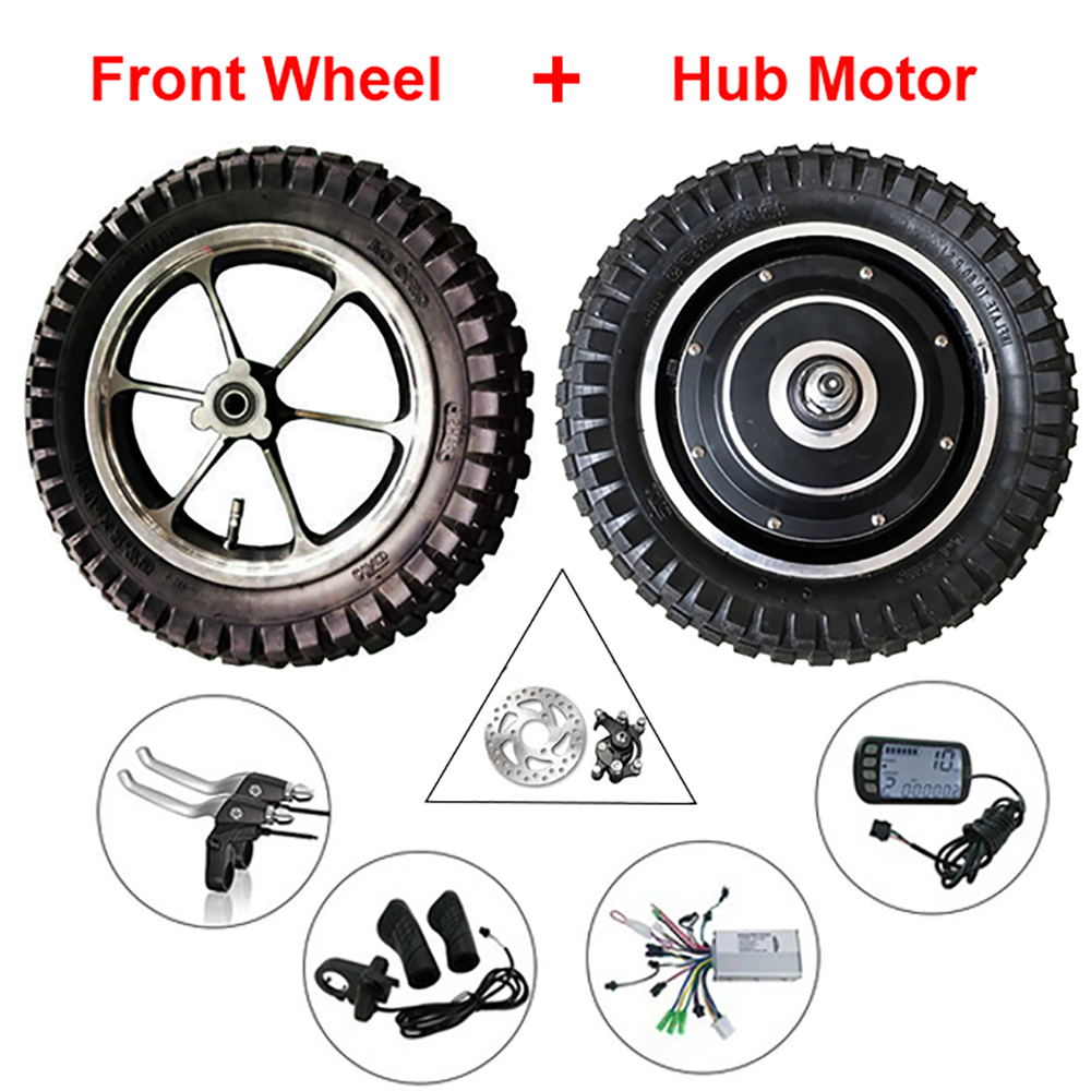 Electric Bicycle Motor 10 Inch 48v 350w 800w 12 50km H Hub Kit 36v Skateboard Wiring Diagram Ebike Wheel 12inch Bike Conversion 24v 250w With