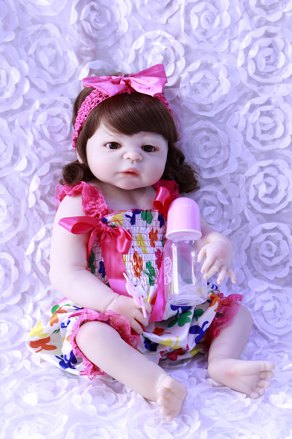 57cm NPK Bebes Reborn Dolls Realistic Full Silicone Baby girl Doll In Cute Clothes Alive Baby Dolls As Girls Playmate57cm NPK Bebes Reborn Dolls Realistic Full Silicone Baby girl Doll In Cute Clothes Alive Baby Dolls As Girls Playmate