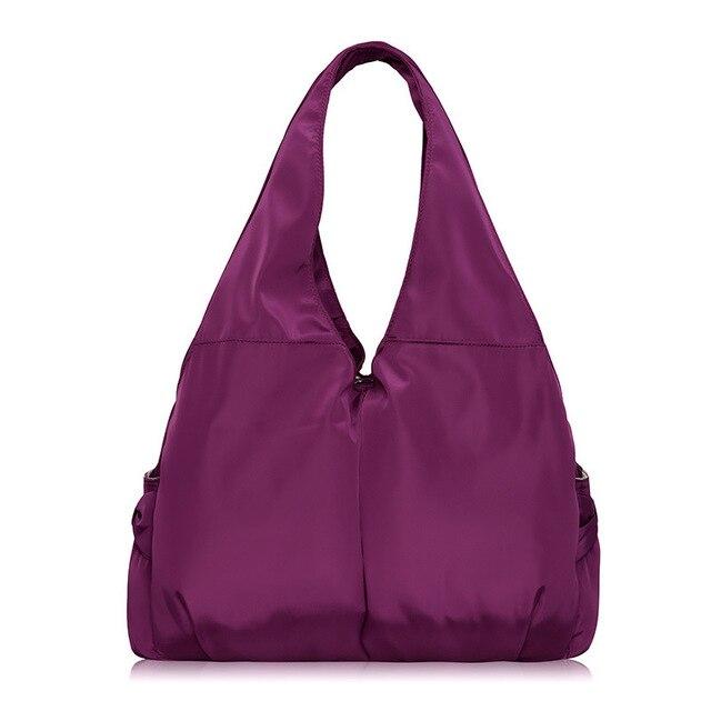 Bolso de las mujeres Bolsa Grande de Hombro Ocasional de Nylon de La Moda Gran Capacidad de Mano de Lujo del Diseño de Marca Púrpura Bolsas Impermeables bolsas XA287H