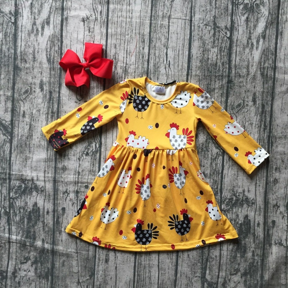 new arrivals fall/winter baby girls clothes children mustard chicken dress milk silk cotton ruffle boutique outfits match bow new fall winter baby girls milk silk cotton dress navy perple floral flower striped ruffle long sleeve children clothes boutique