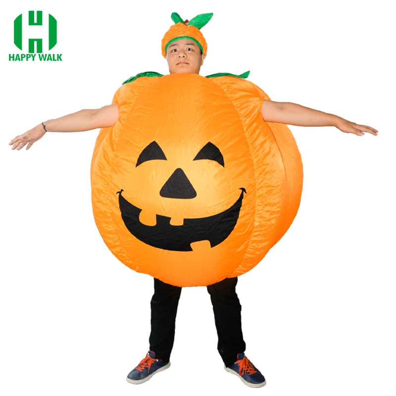 Halloween Pumpkin Cosplay Inflatable Costumes For Adult In Halloween Funny Party Dress Carnival Costume For Men Or Women