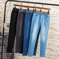 Women Winter Autumn Warm Jeans Plus Size 3XL 4XL 5XL Long Elastic Pencil Denim Pants Trousers
