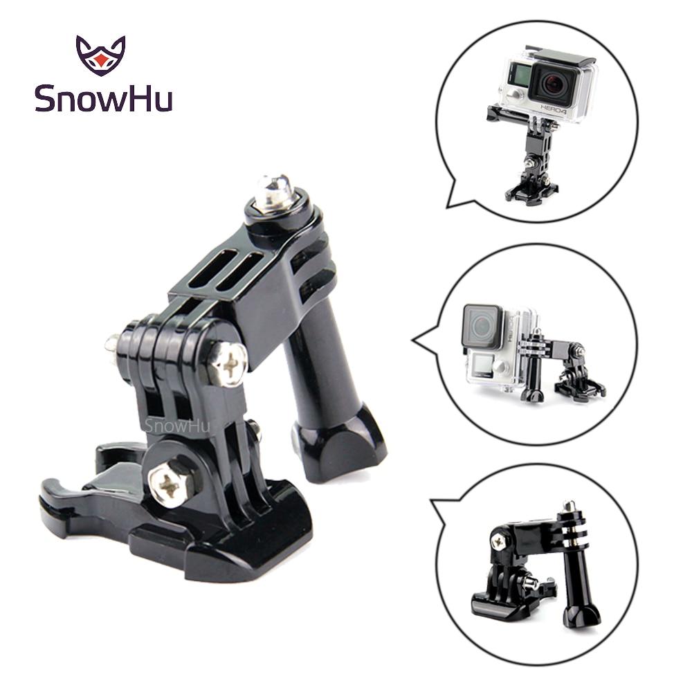 Snowhu para gopro venda quente fotografia acessórios andoer três vias ajustável braço pivô para gopro hero 8 7 6 5 câmera sjcam gp15