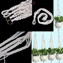 Горшок держатель макраме завод вешалка висит сеялки корзина из джута веревки плетеные Craft