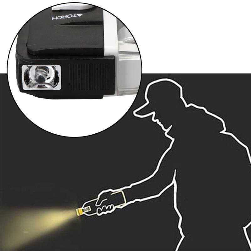 Ручной УФ светодиодный светильник фонарь лампа полезные банкноты детектор поддельный валюта деньги детектор 2в1 Высокое качество практичный