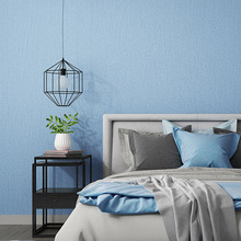 Nordic Wall Papers Home Decor Solid Color Grey Blue Waterproof Wallpaper Roll for Walls Bedroom Living Room Wall  Decorative modern nordic style wall papers home decor solid color silk textured wallpaper for walls fabric bedroom wall paper green blue