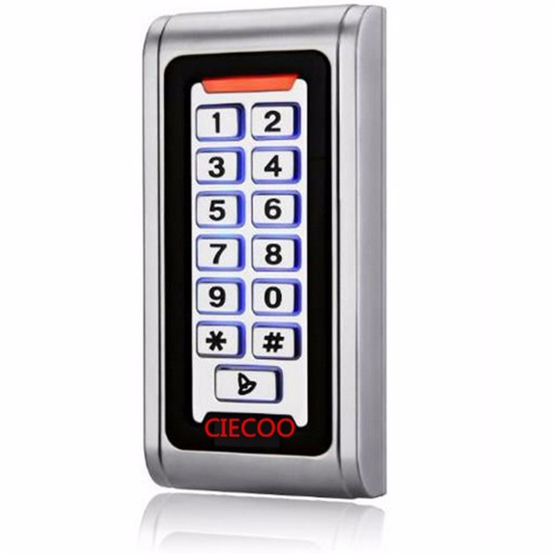 Backlight Metal shell IP68 waterproof RFID 125Khz EM ID Smart card entry lock Keypad Standalone Door Access Control system lpsecurity 125khz id em or 13 56mhz rfid metal door lock access controller with digital backlit keypad ip65 waterproof