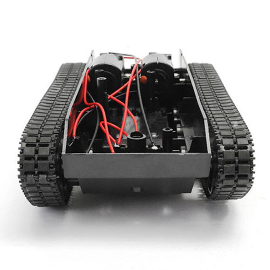 Smart Robot Tank Car Chassis Kit Rubber Track Crawler for Arduino 130 Motor D40+