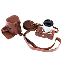 New Retro Luxury PU Leather Camera Case Bag for Fujifilm XA3 X A3 XA 3 XA10 FUJI X A10 X A3 XA 3 10 Digital Camera Open Battery