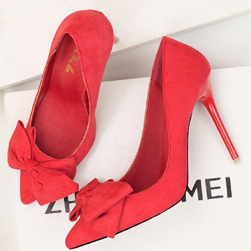 Saltos Qualité Sur Haute Chaussures Glissement cc Hauts Mode Altos Bonbons aaa Lady À Talons Femmes bb Aa En bbb De Mulheres ccc Cresfimix A2793 Casual Daim zPq857