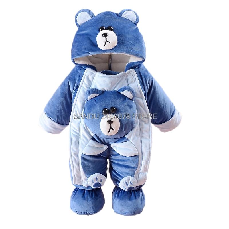 Newborn winter Baby bear Long sleeve infant Bodysuit Boys Girls jumpsuit winter overalls for kids roupa menina baby clothing стоимость