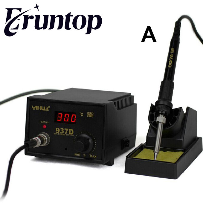 220V/110V YIHUA 937D  45W Temperature Control ESD Digital Soldering Station / Rework Stations