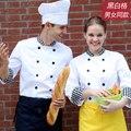 NUEVO Le Chef Cocinero Ropa de Manga Larga de Las Señoras Blanco Chaquetas Para Hombre de Alta Calidad Uniformes Del Cocinero Sydney Bragard Chefcoat Envío Gratis